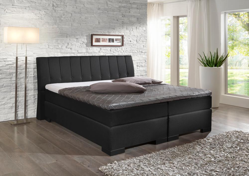 boxspringbett hotelbett polsterbett matratze topper w hlbar gr e 200 220 cm ebay. Black Bedroom Furniture Sets. Home Design Ideas